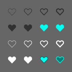 Heart Shape Icon - Multi Series
