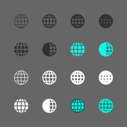 Globe Icon - Multi Series