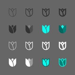Flower Icon - Multi Series
