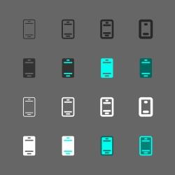 Mobile Phone Icon - Multi Series