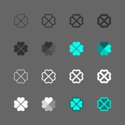 Clover Leaf Icon - Multi Series