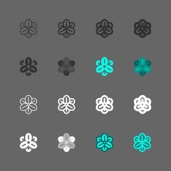 Rolf Fiedler Flower Icon - Multi Series