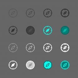Compass Icon - Multi Series