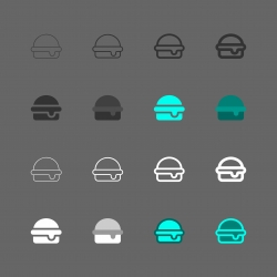 Cheese Burger Icon - Multi Series