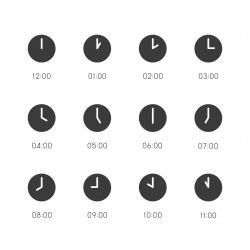 Clock Icon - Gray Series
