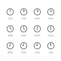 Clock Icon - Line Series