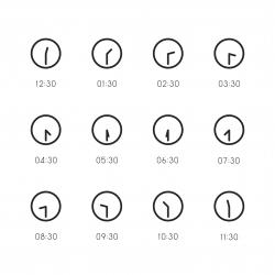 30 Min Clock Icon - Line Series