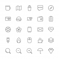 Universal Icon Set 1 - Thin Line Series