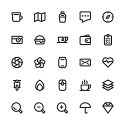 Universal Icon Set 1 - Bold Line Series