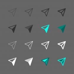 Direction Symbol Icon - Multi Series