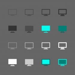 Computer Monitor Icon - Multi Series