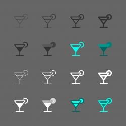 Martini Icon - Multi Series