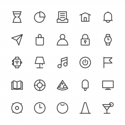 Universal Icon Set 2 - Line Series