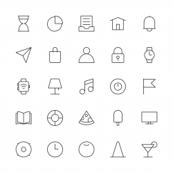 Universal Icon Set 2 - Thin Line Series