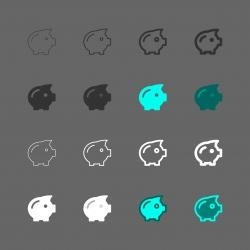 Piggy Bank Icon - Multi Series