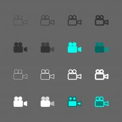 Video Camera Icon - Multi Series