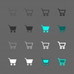 Shopping Cart Icon - Multi Series