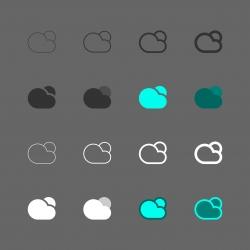 Cloud Sun Icon - Multi Series