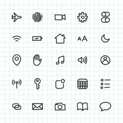 Mobile Setting Icon - Hand Drawn Series