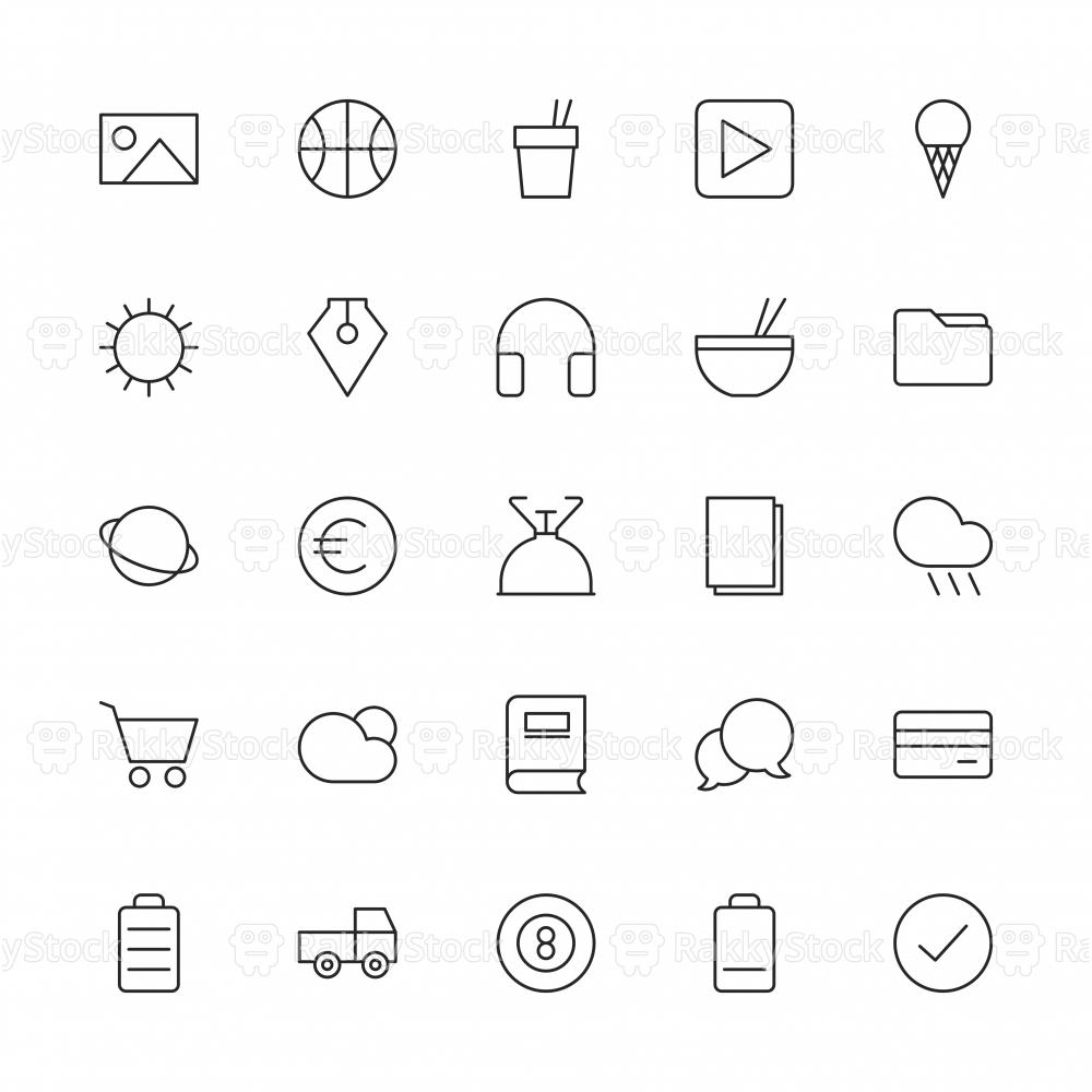Universal Icon Set 4 - Thin Line Series
