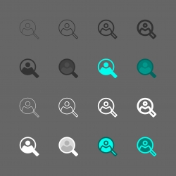 Find Person Icon - Multi Series
