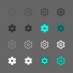 Gear Icon - Multi Series