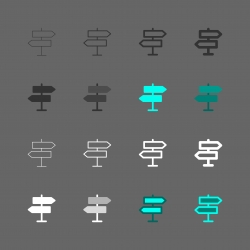 Signpost Icon - Multi Series