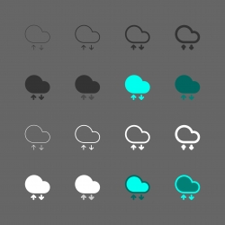 Cloud Computing Icon - Multi Series