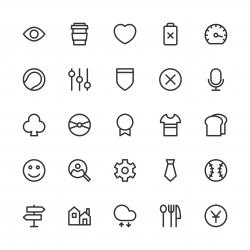 Universal Icon Set 5 - Line Series