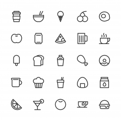 Food and Drink Icon Set 1 - Line Series