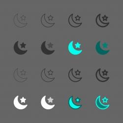 Night Scene Icon - Multi Series