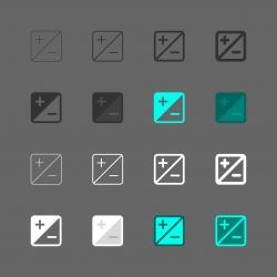 Exposure Compensation Icon - Multi Series