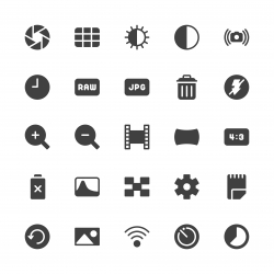 Camera Function Icon Set 2 - Gray Series