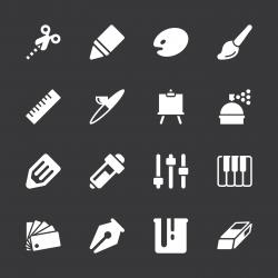 Creative Icons - White Series | EPS10