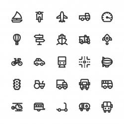 Transport Icon - Bold Line Series