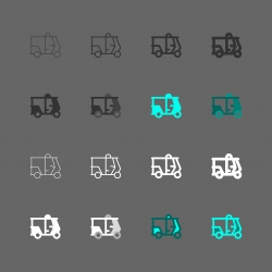 TukTuk Icon - Multi Series