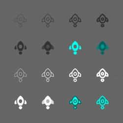 Rocket Icon - Multi Series