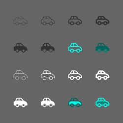 Car Icon - Multi Series