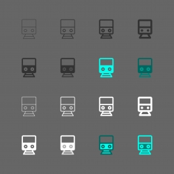 Electric Train Icon - Multi Series