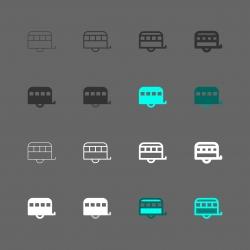 Home Car Trailer Icon - Multi Series