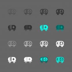 Fuel Tanker Icon - Multi Series