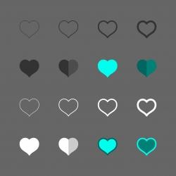 Heart Shape Icon - Multi Series