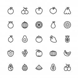 Fruit Icon - Line Series