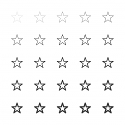 Star Shape Icon - Multi Line Series