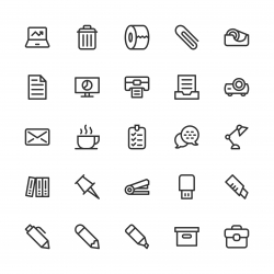 Office Supplies Icon - Line Series