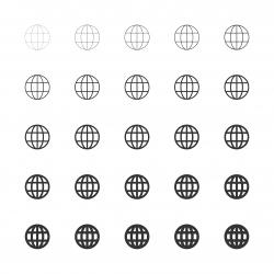 Globe Icon - Multi Line Series