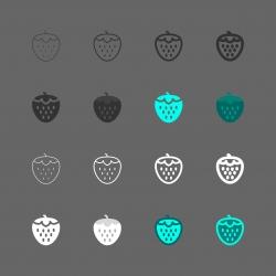 Strawberry Icon - Multi Series