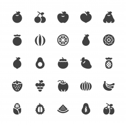 Fruit Icon - Gray Series