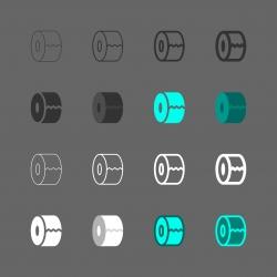Paper Roll Icon - Multi Series