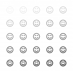 Smiley Emoticon Icon - Multi Line Series